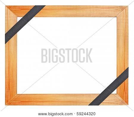 Wooden funeral frame