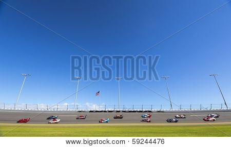 Daytona Beach, FL - Jan 25, 2014:  The Tudor United SportsCar Championship teams take to the track for the Rolex 24 at Daytona International Speedway in Daytona Beach, FL.