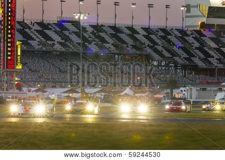 Daytona Beach, FL - Jan 25, 2014:  The Tudor United SportsCar Championship teams take to the track for the Rolex 24 at Daytona at Daytona International Speedway in Daytona Beach, FL.