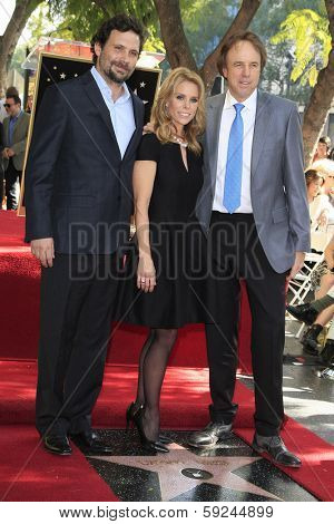 LOS ANGELES - JAN 29: Jeremy Sisto, Cheryl Hines, Kevin Nealon at a ceremony as Cheryl Hines is honored with 2,516th Star on the Hollywood Walk of Fame on January 29, 2014 in Los Angeles, CA