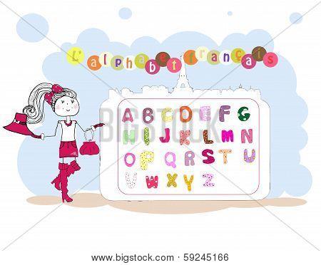 French Alphabet Vector. Alphabet Français