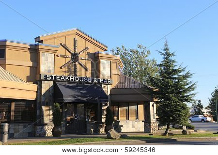 Coquitlam BC, CANADA - October 8: The Keg Steakhouse & Bar October 8, 2013, BC, Canada.The Keg is a Canadian steakhouse chain of restaurants. It has restaurants in both Canada and the United States.