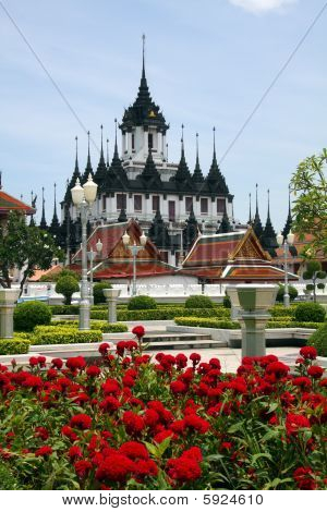 The Loha Prasat or Metal Palace, Bangkok, Thailand