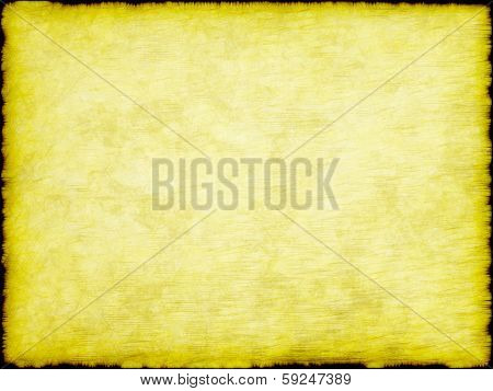 Grungy Yellow Papyrus With Frame Border.background.