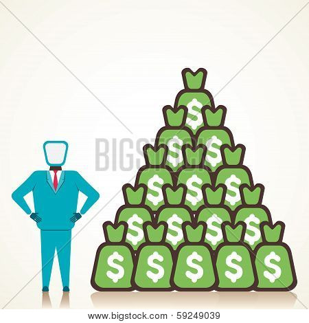 men with lots of money vector