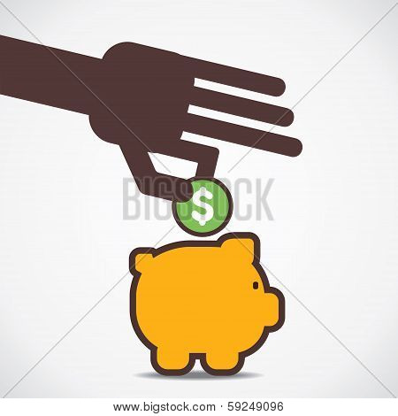 save your money in piggy bank vector