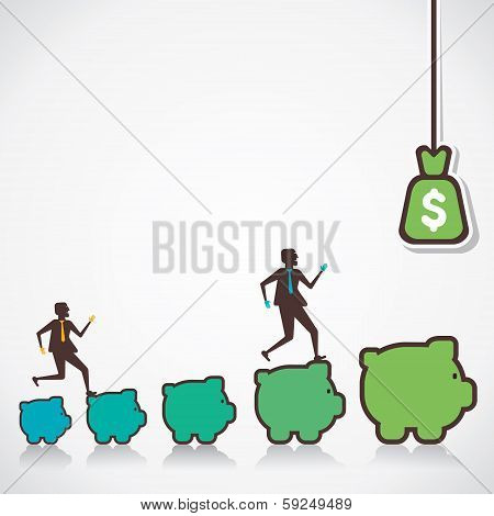 make more money concept vector