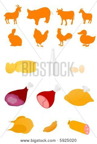 farm animal shapes