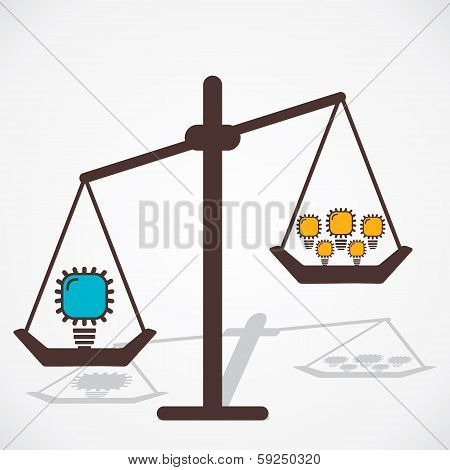 big idea is more powerful than small ideas vector