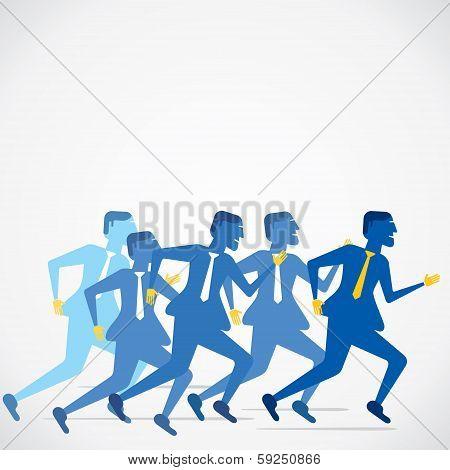 businessmen run concept vector