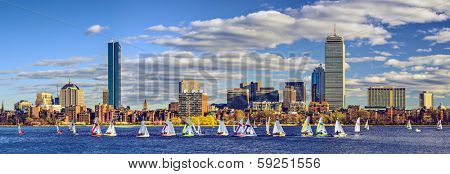 Boston, Massachusetts skyline panorama