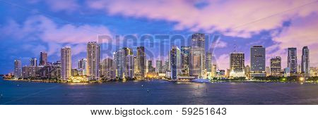 Miami, Florida, USA skyline panorama.