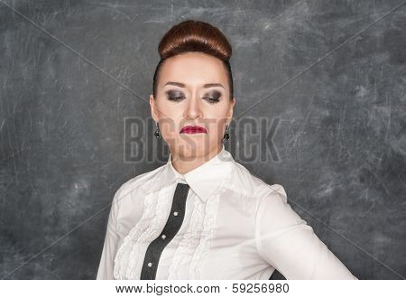 Woman With A Disgust Expression