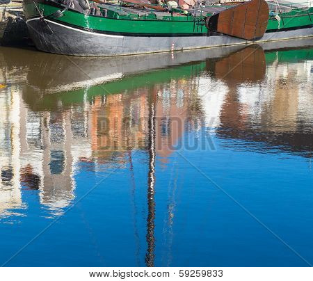 Boat Reflected In Water