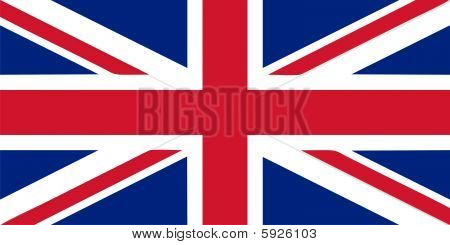 British flag isolated vector illustration