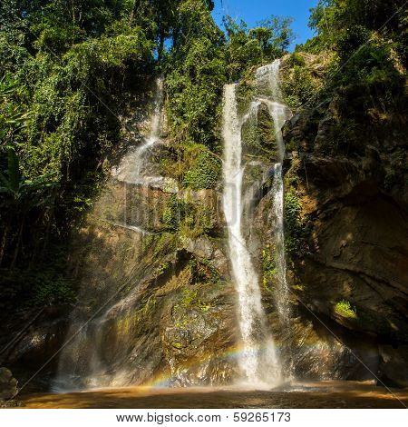 Mok Fa waterfall in the Northern Thailand