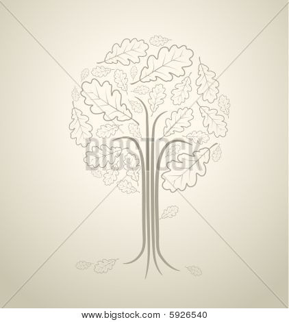 Vintage Abstract Tree