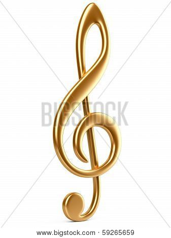 Gold Music Note Key.