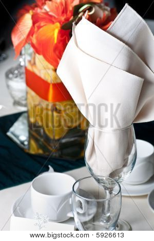 Place Setting At A Wedding