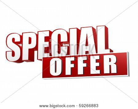 Special Offer In 3D Letters And Block