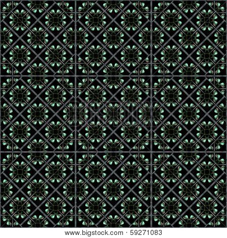 Diamonds Flowers Pattern.