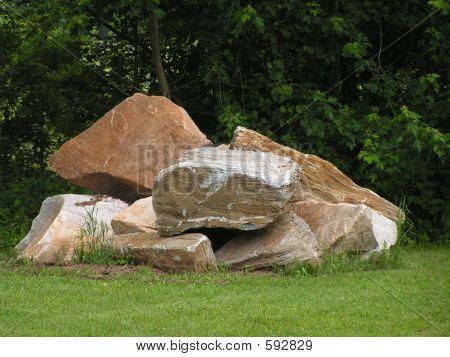 Stockpiled Boulders