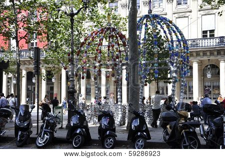 PARIS-AUGUST17th:Decoration in front of Comedie Francaise on august 17th in Paris,France
