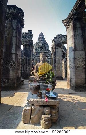 Budda King of Angkor wat at Cambodia