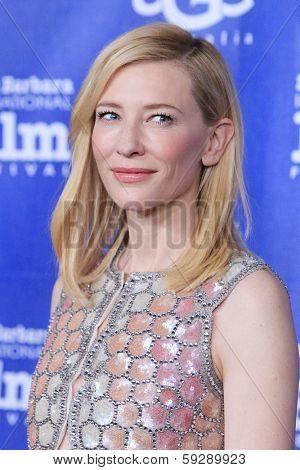 SANTA BARBARA - FEB 1: Cate Blanchett at the Outstanding Performer Of The Year Award, Arlington Theater at the 29th Santa Barbara International Film Festival on February 1, 2014 in Santa Barbara, CA