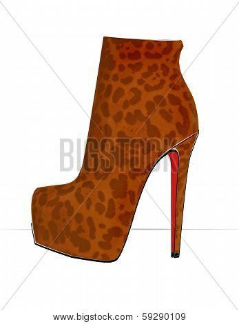 Leopard Print Bootie