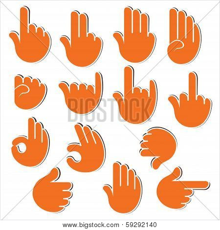creative sign or signal show by hand finger
