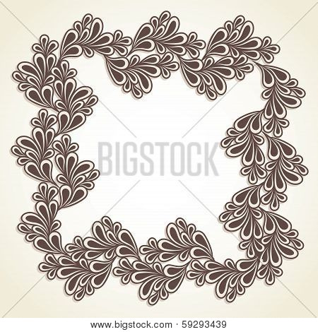 illustration of creative frame design stock vector
