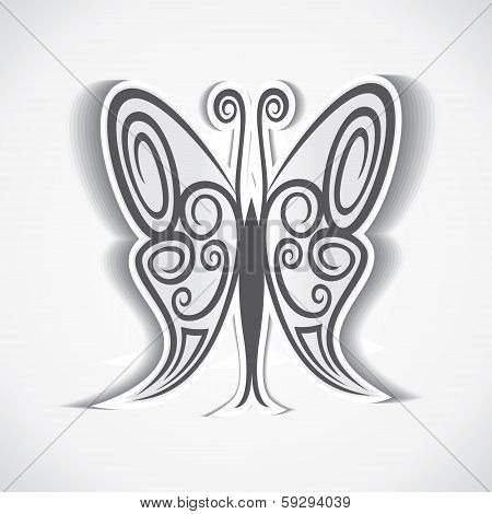 black and white butterfly background vector