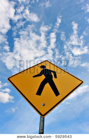 Man On Sign, Walking On The Sky