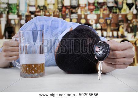 Drunk Man Sleeping