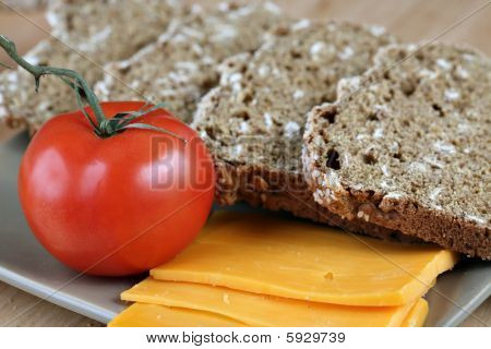 Bread, Cheese, Tomatoes