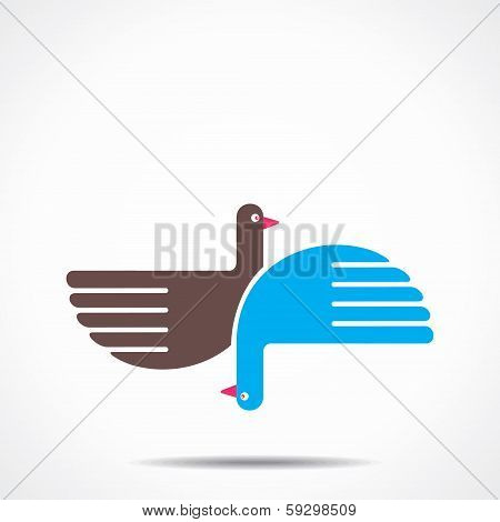 illustration of creative bird background stock vector
