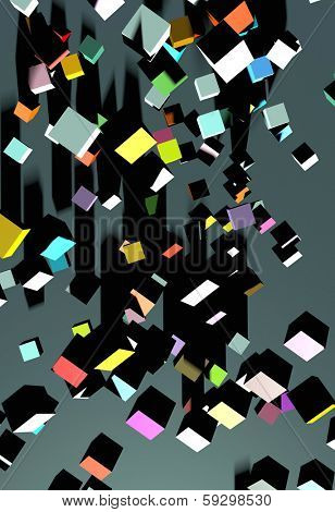 abstract square grey background with bright squares