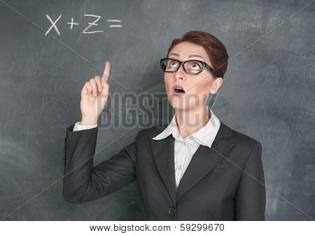 Teacher Solving Equation