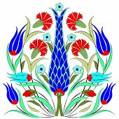 stock photo of motif  - a pattern designed from traditional Ottoman motifs - JPG