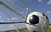 Football Soccer Ball In Goal