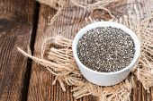 stock photo of salvia  - Chia Seeds in a small bowl  - JPG