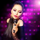 picture of karaoke  - Beautiful Singing Girl - JPG