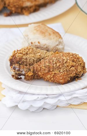 Oven Fried Skinless Chicken