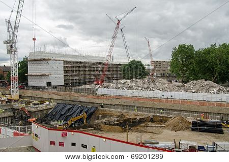 Heygate Estate being demolished, London