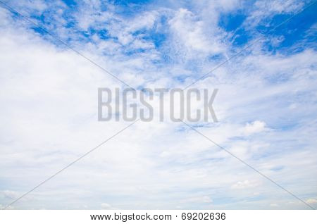 Sky With Some Cloud Cirrus And Cumulus