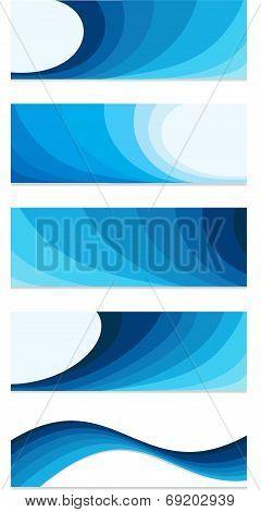 Blue Banner Set