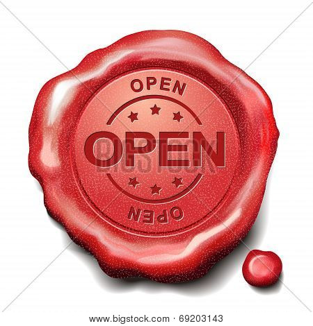 Open Red Wax Seal