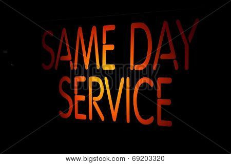 Neon Sign Same Day Service