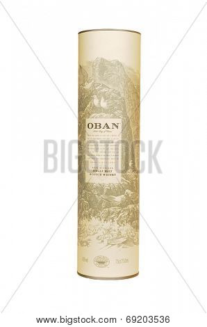 Hayward, CA - July 28, 2014: 750ml bottle of OBAN West Highland Single Malt Whisky